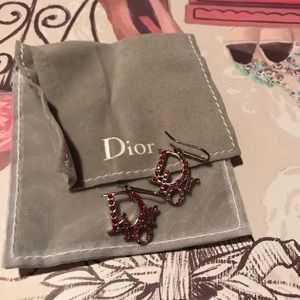 Dior Pink crystals earrings